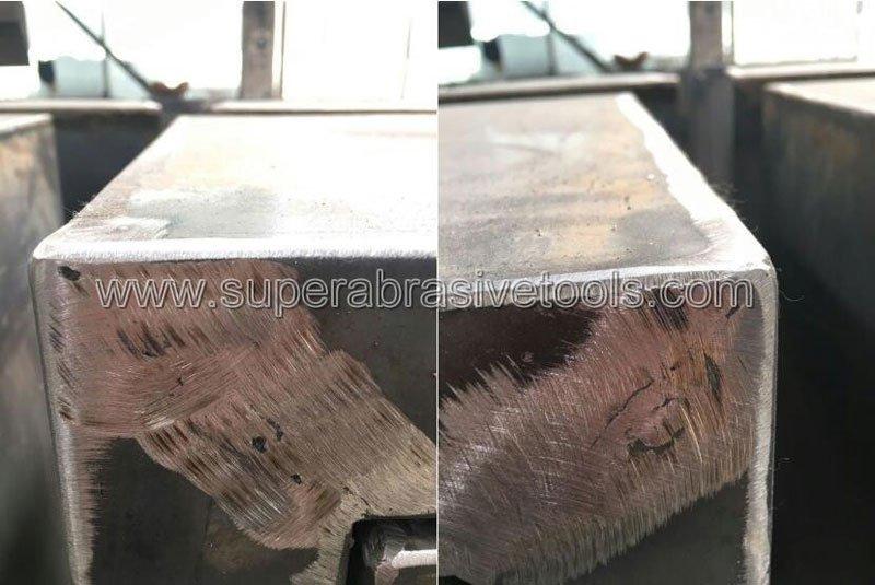 Vacuum brazed diamond grinding tool for iron cast