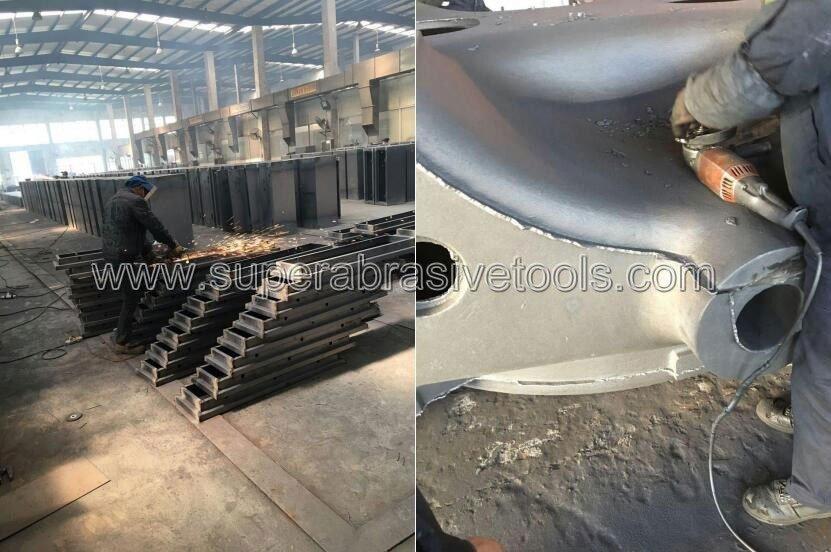 Vacuum brazed diamond grinding wheel disc