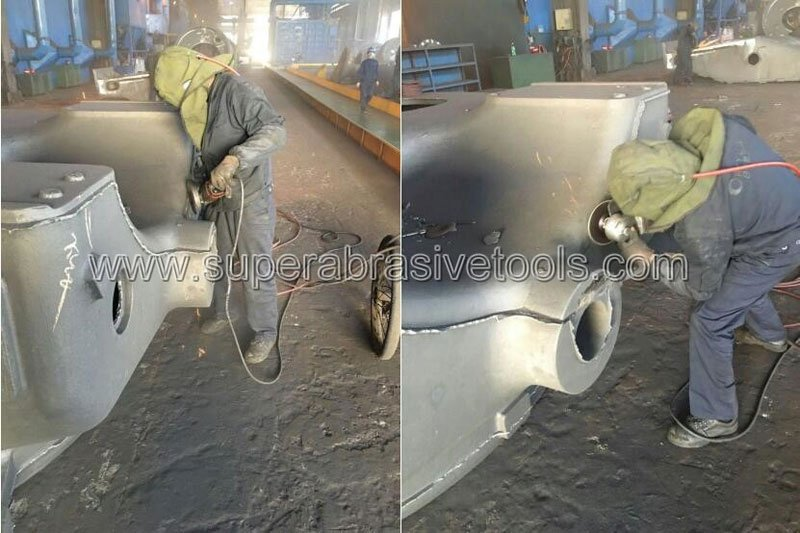 Vacuum brazed diamond grinding wheel