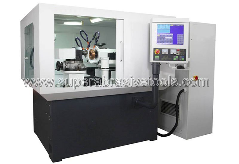 Electrical discharge grinding of polycrystalline diamond