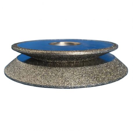 Electroplated diamond grinding wheel for glass cast iron