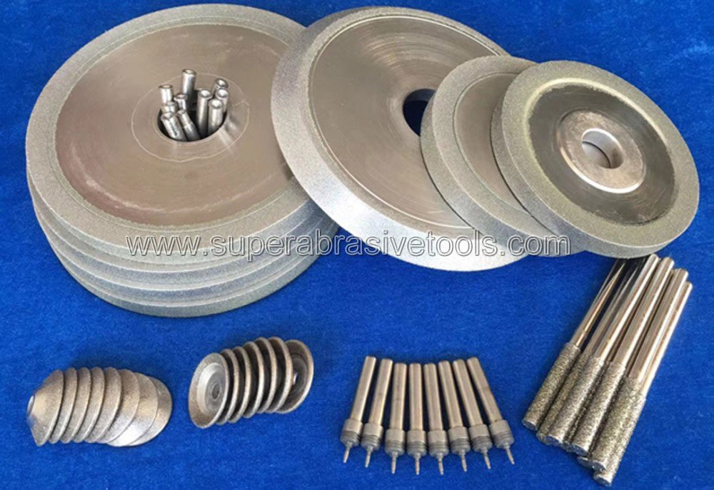 Electroplated diamond grinding wheel mouted point