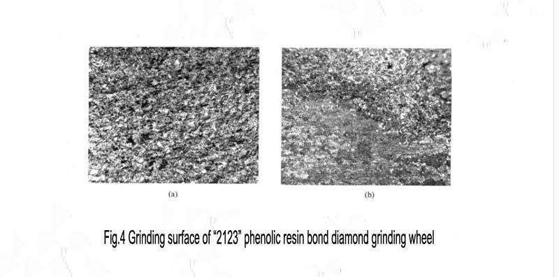 "Fig.4 Grinding surface of ""2123"" phenolic resin bond diamond grinding wheel"