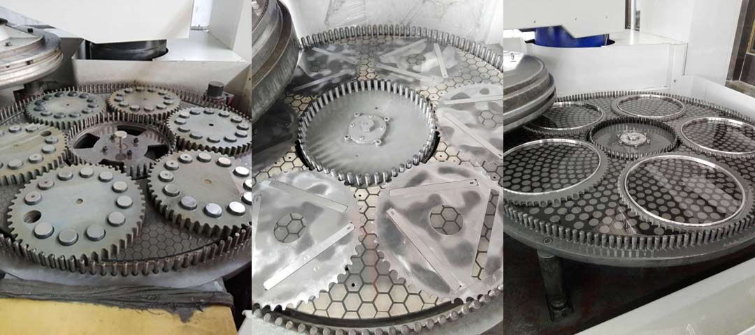 Application of double sided lapping wheel