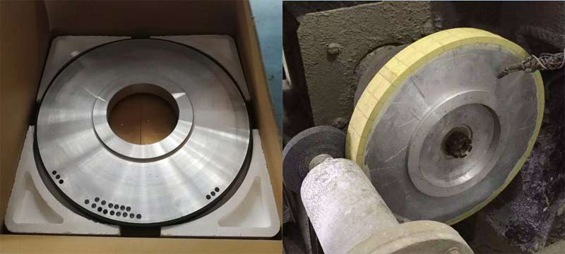 diamond grinding wheel for thermal spray coating HVOF