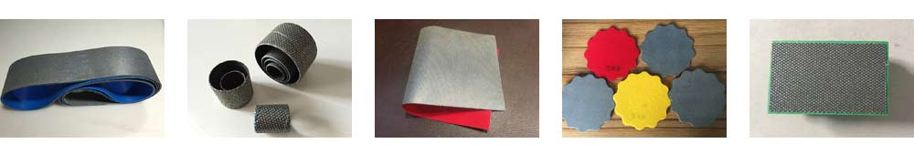 Diamond hand polishing pads, Diamond spiral band, Diamond sandpaper, Diamond sanding abrasive belts