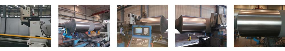 The Scene of Processing Thermal Spray Roller